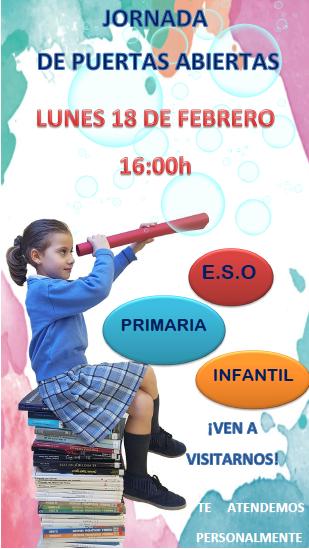 Jornada de puertas abiertas 18/02/2019 a las 16:00 h