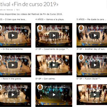 """Festival """"Fin de curso 2019"""""""