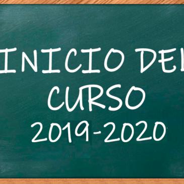 Inicio Curso 2019/2020