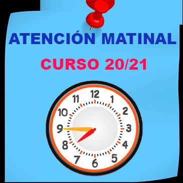 Servicio Madrugadores Curso 20/21